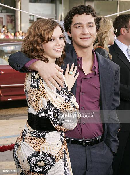 Amber Tamblyn and Shia LaBeouf during The Sisterhood of the Traveling Pants Los Angeles Premiere at Grauman's Chinese Theatre in Hollywood California...