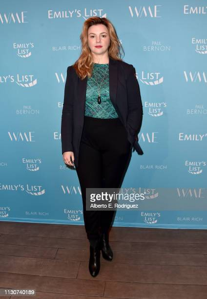 Amber Tamblyn attends EMILY's List 2nd Annual Pre-Oscars Event at Four Seasons Los Angeles at Beverly Hills on February 19, 2019 in Los Angeles,...