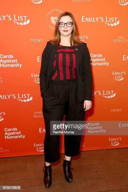 Amber Tamblyn attends EMILY's List's Resist Run Win PreOscars Brunch on February 27 2018 in Los Angeles California