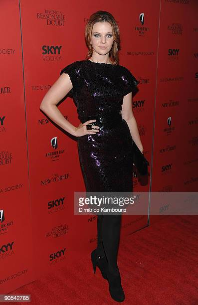 Amber Tamblyn attends the Cinema Society screening of Beyond A Reasonable Doubt at the AMC Lincoln Square on September 9 2009 in New York City