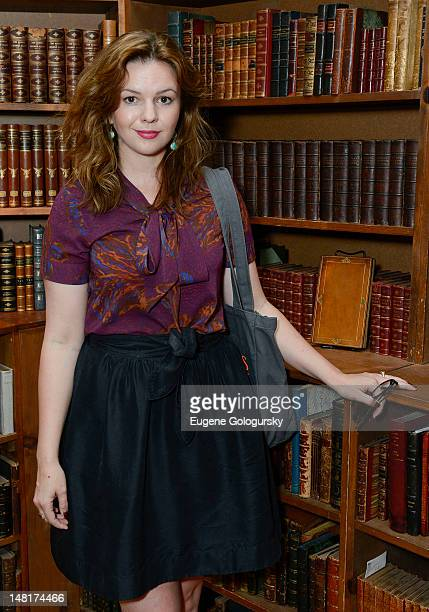 Amber Tamblyn attends The Paris Review Strand Bookstore Monthly Literary Salon with Amber Tamblyn at the Strand Bookstore on July 11 2012 in New York...
