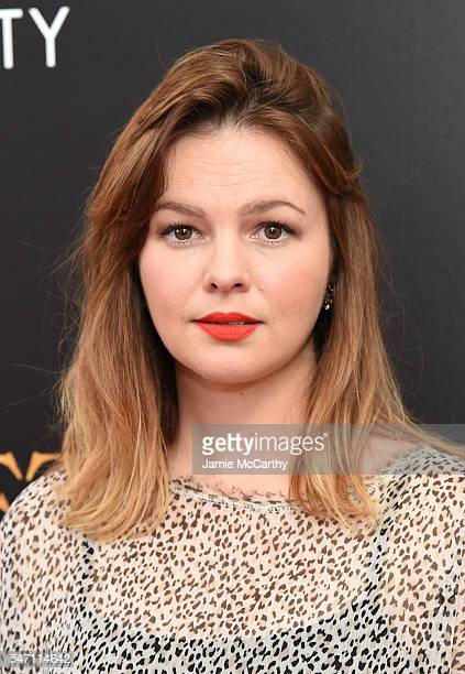 Amber Tamblyn attends the premiere of Cafe Society hosted by Amazon Lionsgate with The Cinema Society at Paris Theatre on July 13 2016 in New York...