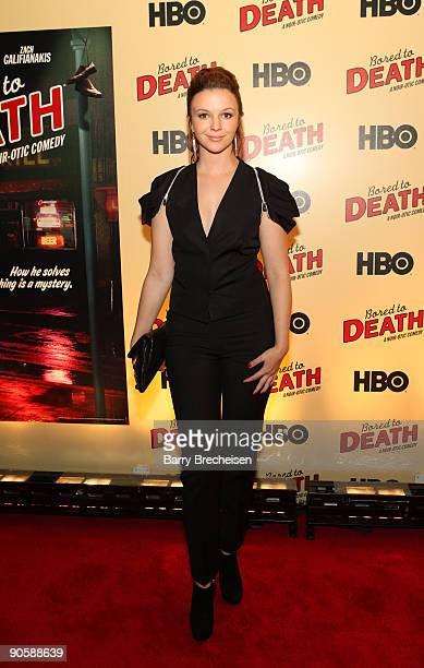 Amber Tamblyn attends the premiere of HBO's Bored to Death at the Clearview Chelsea Cinemas on September 10 2009 in New York City
