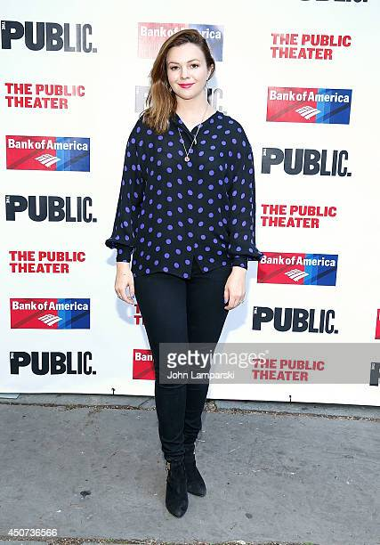 """Amber Tamblyn attends The Public Theater's Opening Night Of """"Much Ado About Nothing"""" at Delacorte Theater on June 16, 2014 in New York City."""