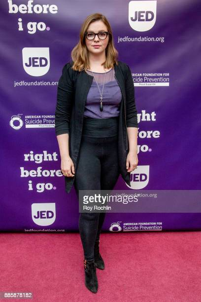 Amber Tamblyn attends the Right Before I Go Benefit performance at Town Hall on December 4 2017 in New York City