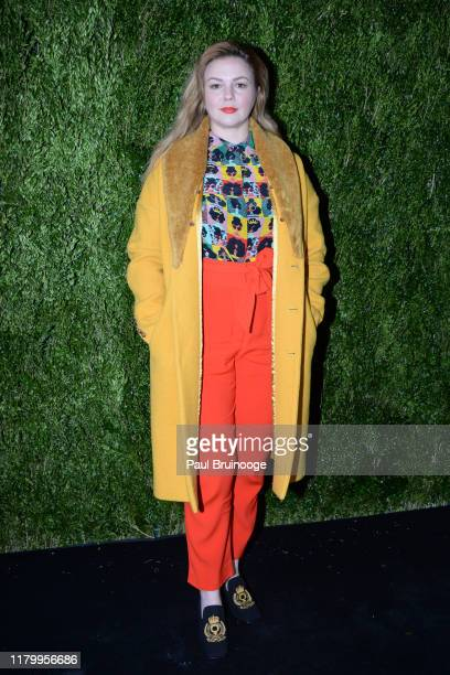 Amber Tamblyn attends Through Her Lens/Tribeca Chanel Women's Filmmaker Program Luncheon on November 4, 2019 at Locanda Verde in New York City.