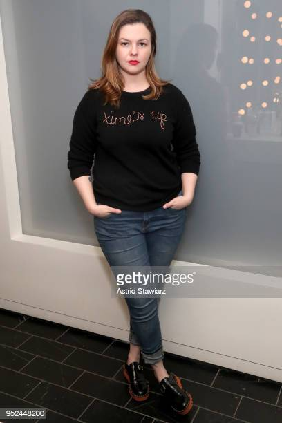 Amber Tamblyn attends Time's Up during the 2018 Tribeca Film Festival at Spring Studios on April 28 2018 in New York City