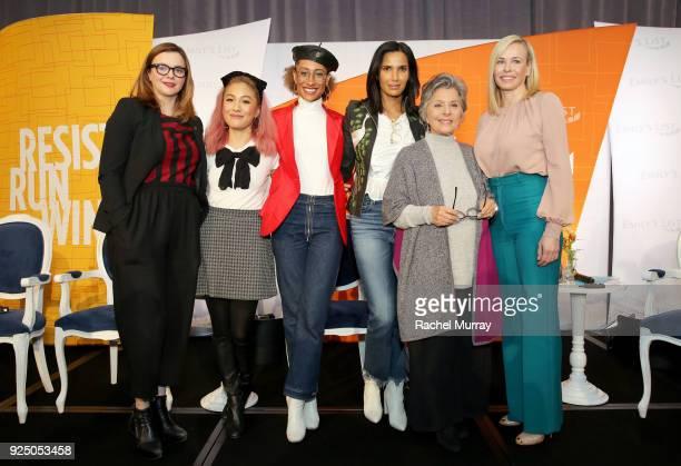 Amber Tamblyn Constance Wu Elaine Welteroth Padma Lakshmi Former US Senator Barbara Boxer and Chelsea Handler attend EMILY's List's Resist Run Win...