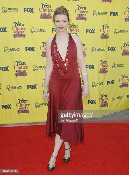 Amber Tamblyn during 2005 Teen Choice Awards Arrivals at Gibson Amphitheater in Universal City California United States