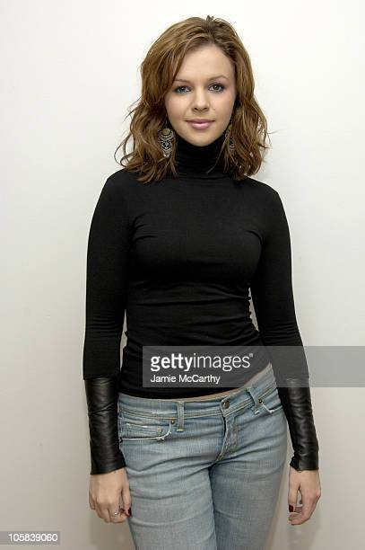 Amber Tamblyn during Amber Tamblyn and Alexis Bledel Visit MTV's TRL May 25 2005 at MTV Studios in New York City New York United States