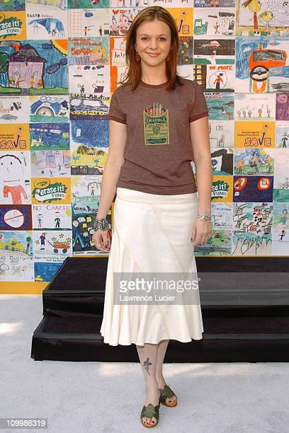 Amber Tamblyn during Amber Tamblyn Unveils AntiViolence Mural on Behalf of Students Against Violence Everywhere at Central Park Zoo in New York City...