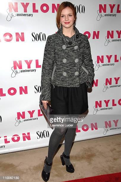 Amber Tamblyn during Christina Aguilera Hosts Nylon Magazine's 8th Anniversary Celebration at Gansevoort Hotel in New York City, New York, United...