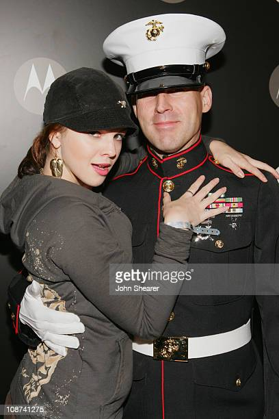 Amber Tamblyn during Motorola's Seventh Anniversary Party to Benefit Toys for Tots Red Carpet at American Legion in Los Angeles California United...