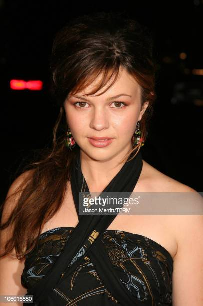 Amber Tamblyn during Snakes on a Plane Los Angeles Premiere Arrivals at GraumanIs Chinese Theatre in Hollywood California United States