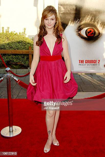 Amber Tamblyn during The Grudge 2 Los Angeles Premiere Arrivals at Knott's Berry Farm in Buena Park California United States