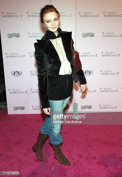 Amber Tamblyn during T-Mobile Limited Edition Sidekick II Launch - Arrivals at T-Mobile Sidekick II City in Los Angeles, California, United States.
