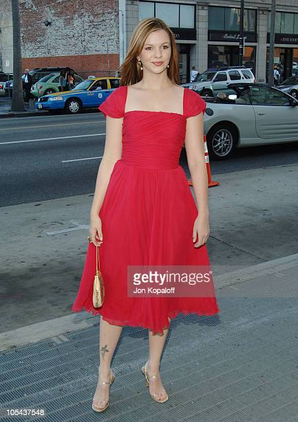 Amber Tamblyn during Wicked Los Angeles Opening Night Arrivals at Pantages Theatre in Hollywood California United States