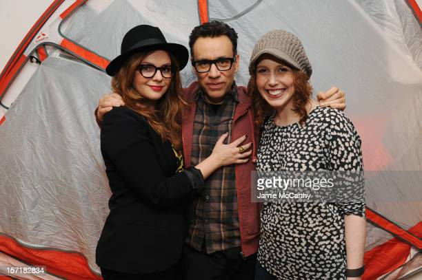 Amber Tamblyn Fred Armisen and Vanessa Bayer attend the 8th Annual WIRED Store opening night party in New York City on November 29 2012