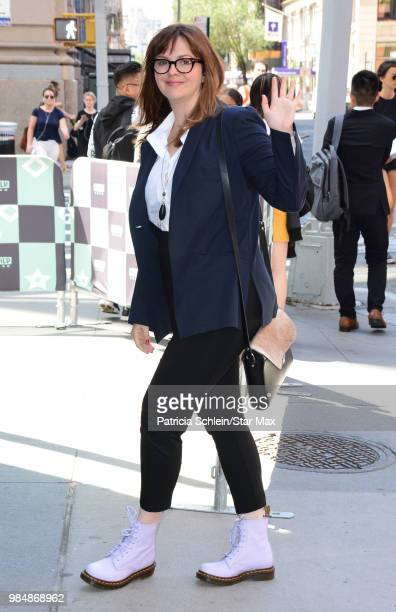 Amber Tamblyn is seen on June 26 2018 in New York City