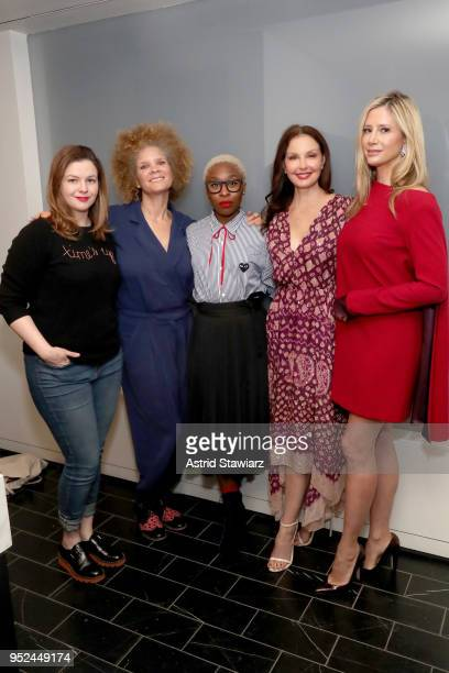 Amber Tamblyn Michaela Angela Davis Cynthia Erivo Ashley Judd and Mira Sorvino attend 'Time's Up' during the 2018 Tribeca Film Festival at Spring...