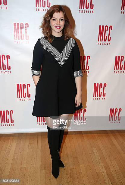 Amber Tamblyn poses at the After Party for The MCC Theatre Benefit Reading of Neil LaBute's Reasons To Be Pretty Happy at Ramsacle on September 11...