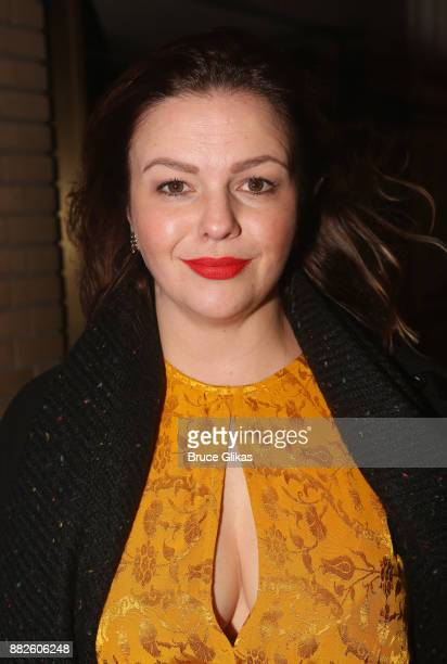 "Amber Tamblyn poses at the opening night of Steve Martin's new play ""Meteor Shower"" on Broadway at The Booth Theatre on November 29, 2017 in New York..."
