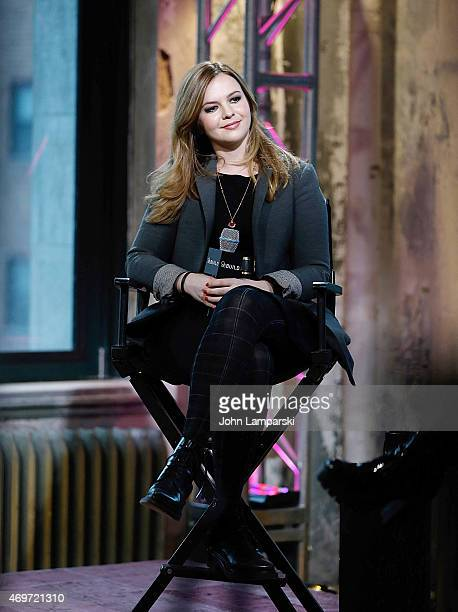 Amber Tamblyn promotes her new book Dark Sparkler at AOL Build at AOL Studios In New York on April 14 2015 in New York City