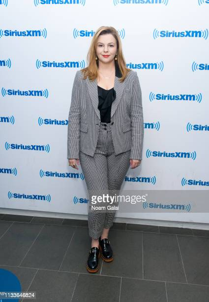 Amber Tamblyn visits the SiriusXM Studios on March 04, 2019 in New York City.