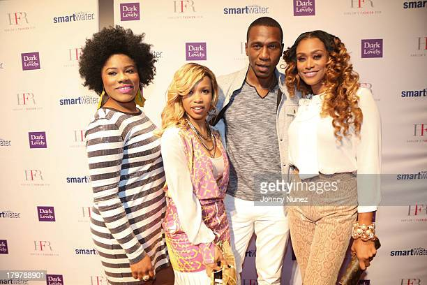 Amber The Actress actress Elise Neal actor Leon Robinson and reality TV personality Tami Roman attend the Harlem's Fashion Row show during Spring...