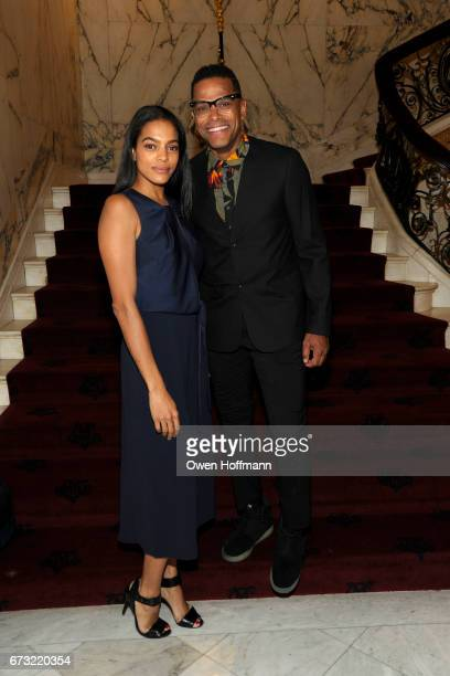 Amber Tolliver and Maxwell attend Girls Inc of New York City 2017 Spring Luncheon at Metropolitan Club on April 24 2017 in New York City