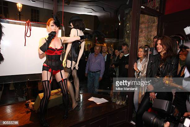 Amber Topaz attends private view of Coco De Mer And John Stoddart: Love And Lust on September 9, 2009 in London, England.