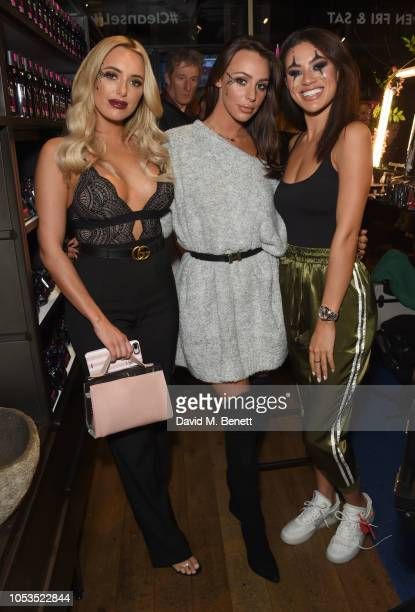 Amber Turner Amber Dowding and Montana Brown attend the NIVEA BOOtique Halloween PopUp launching the new MicellAIR Professional Cleansing range on...
