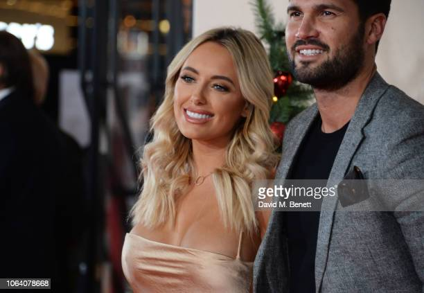 Amber Turner and Dan Edgar attend the World Premiere of 'Surviving Christmas With The Relatives' at Vue West End on November 21 2018 in London England