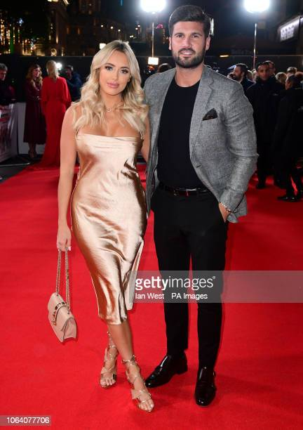 Amber Turner and Dan Edgar attending the Surviving Christmas with the Relatives World Premiere at the Vue West End Leicester Square London