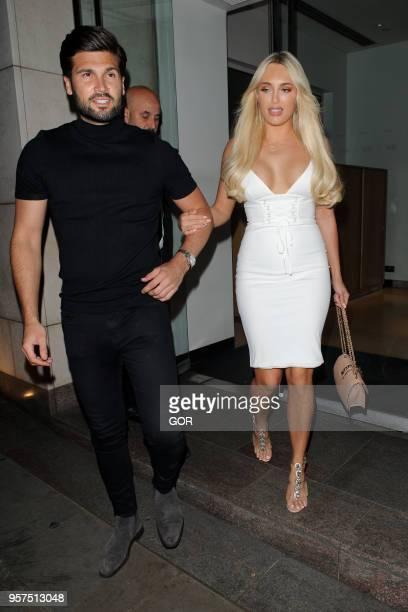 Amber Turner and Dan Edgar leaving Nobu Park Lane in Mayfair on May 11 2018 in London England
