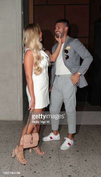 Amber Turner and Dan Edgar seen attending the ITV Summer Party at Nobu Hotel in Shoreditch on July 19 2018 in London England