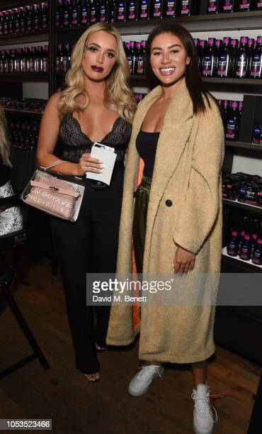 Amber Turner and Montana Brown attend the NIVEA BOOtique Halloween PopUp launching the new MicellAIR Professional Cleansing range on October 25 2018...