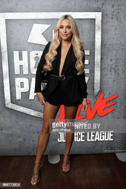 Amber Turner attends the Kiss Haunted House Party held at SSE Arena on October 26 2017 in London England