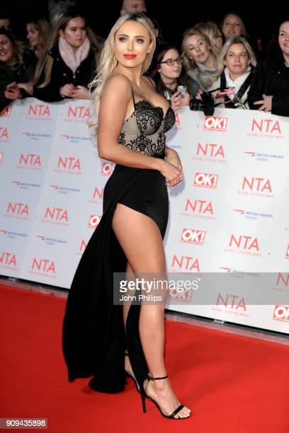 Amber Turner attends the National Television Awards 2018 at the O2 Arena on January 23 2018 in London England