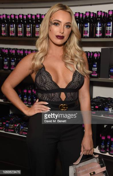 Amber Turner attends the NIVEA BOOtique Halloween PopUp launching the new MicellAIR Professional Cleansing range on October 25 2018 in London England