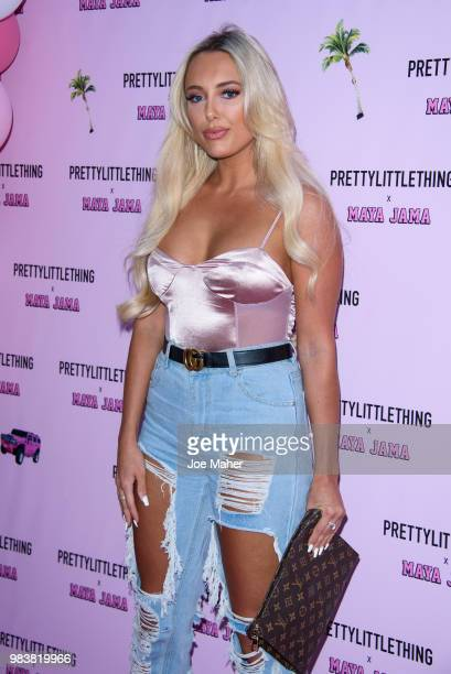 Amber Turner attends the PrettyLittleThing x Maya Jama Launch Party at MNKY HSE on June 25 2018 in London England