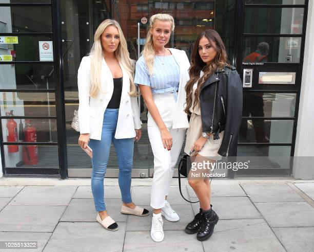 Amber Turner Chloe Meadows and Courtney Green from TOWIE seen at BUILD Series LDN at AOL Studios on August 31 2018 in London England