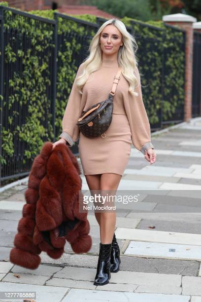 Amber Turner on a photoshoot for Envy Shoe footwear brand outside The White House in Ealing on October 01, 2020 in London, England.