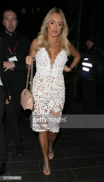 Amber Turner seen attending The Beauty Awards with OK at Park Plaza Westminster Bridge on November 26 2018 in London England
