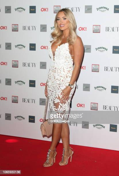 Amber Turner seen during The Beauty Awards with OK at the Park Plaza Westminster Bridge
