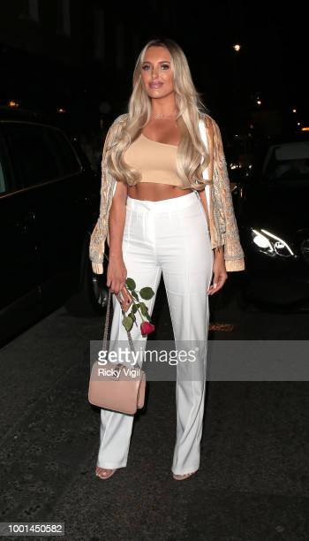 Amber Turner seen on a night out at MNKY HSE in Mayfair on July 18 2018 in London England