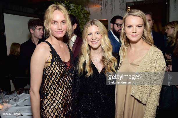 Amber Valetta Kristina O'Neill and Kelly Sawyer Patricof attend 2019 WSJ Magazine Talents and Legends Dinner Honoring Lucas Hedges at Mr Chow on...