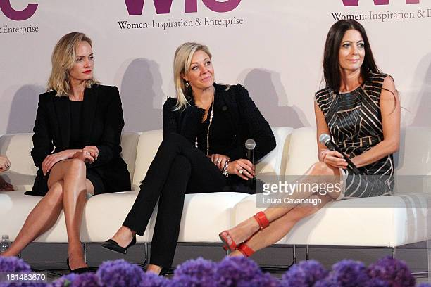 Amber Valetta Nadja Swarovski and Catherine Malandrino attend day 2 of the 4th Annual WIE Symposium at Center 548 on September 21 2013 in New York...