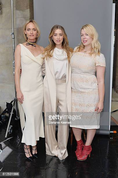 Amber Valletta Amber Heard and Amanda de Cadenet attend NETAPORTER Celebrates Women Behind The Lens at Chateau Marmont on February 26 2016 in Los...