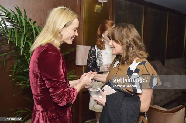 Amber Valletta and Courtney Jaye attend Jo Malone London Celebrates Karen Elson's Birthstones by Duffy at Sunset Tower Hotel on January 8 2019 in...